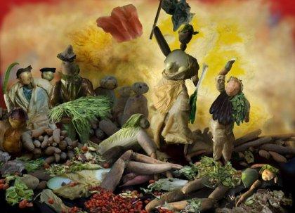 Скульптуры из овощей