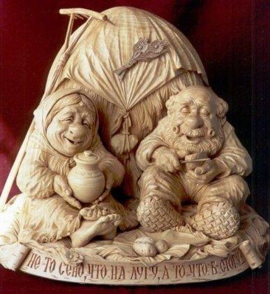 Замечательные скульптуры из дерева