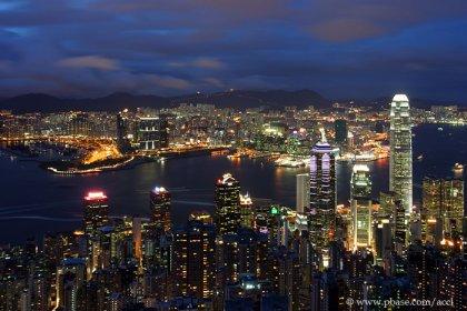 Красивые фотографии ночного Гонконга