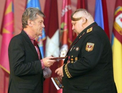 Фотожаба: Ющенко и казак