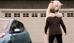 Полярный медведь в рекламе Nissan