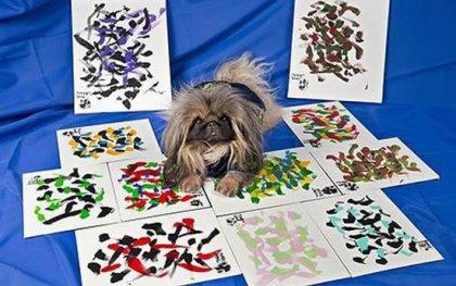 Зигги - собака-художник