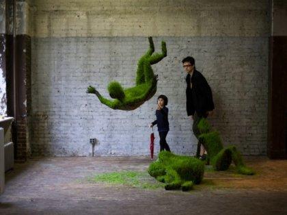 Растущие травяные скульптуры