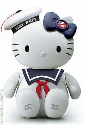 Огромная подборка котиков Hello Kitty в виде различных знаменитостей.