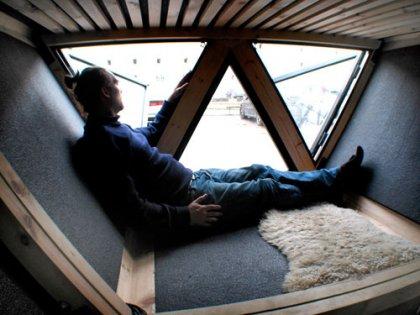 Шагающий эко-дом в Дании