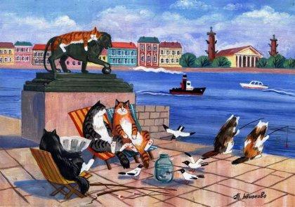 Смешные картинки с кошками