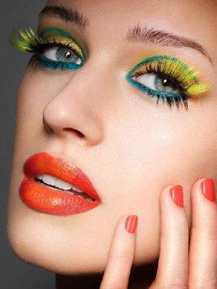 Макияж для зеленых глаз.  Фото.