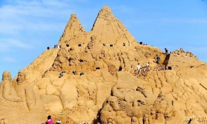 Самая большая скульптура из песка