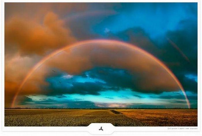 Фото самой красивой в мире радуги