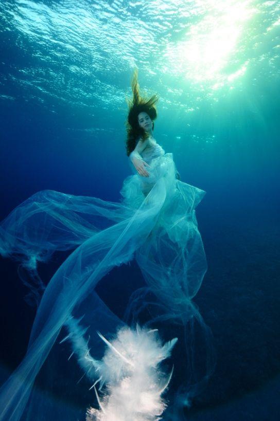 девушки под водой фото