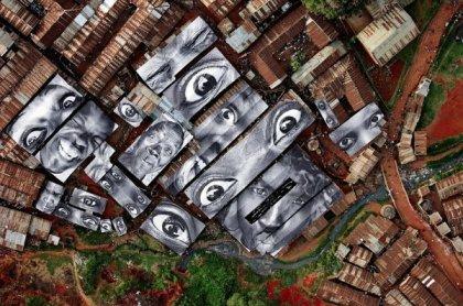 Удивительные работы анонимного художника JR
