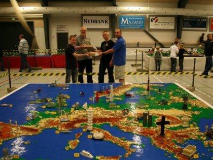 Карта Европы из Lego