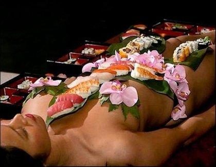 Нетаймори - суши на обнаженном теле