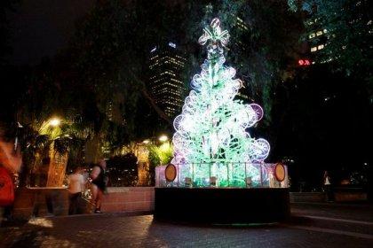 Необычная елка из велосипедов
