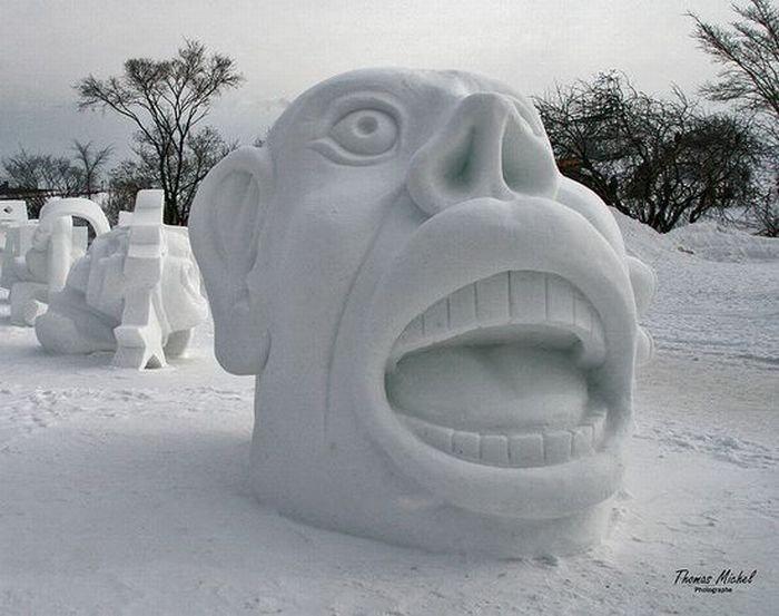 Скульптуры из снега своими руками фото