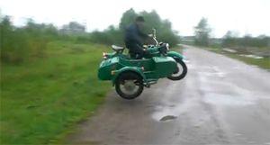 Сумасшедший русский байкер