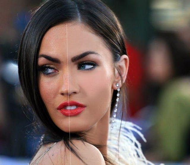 Меган фокс до и после фотошопа