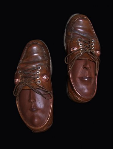 Туфли с лицами