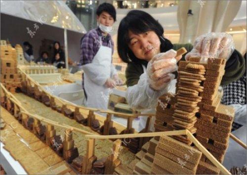 Съедобная модель Шанхая к Рождеству
