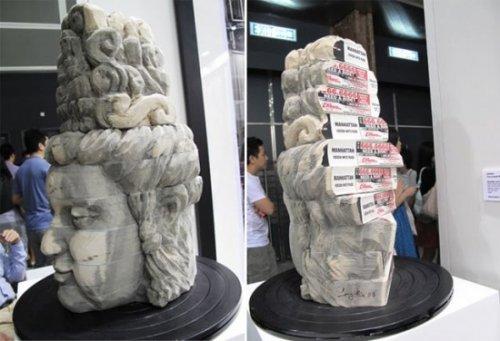 Удивительные скульптуры из книг