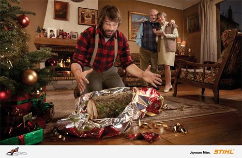 Рождественский рекламный креатив