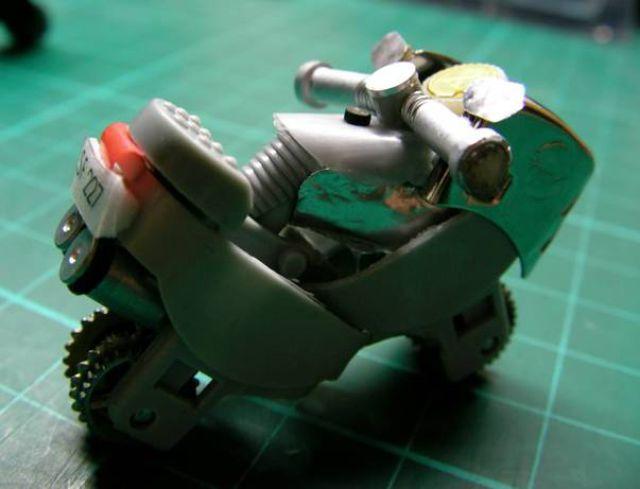 Мотоцикл из зажигалки как сделать