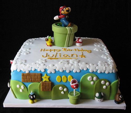 Торт по мотивам игры Super Mario