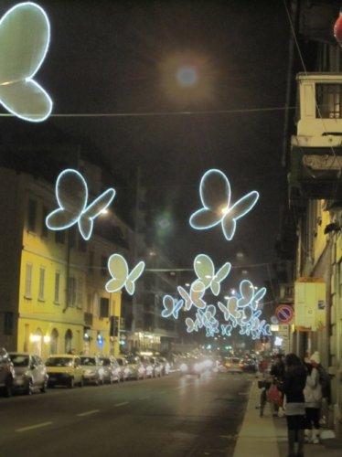 Бабочки на улицах Милана