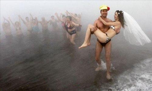 Свадьба русских моржей
