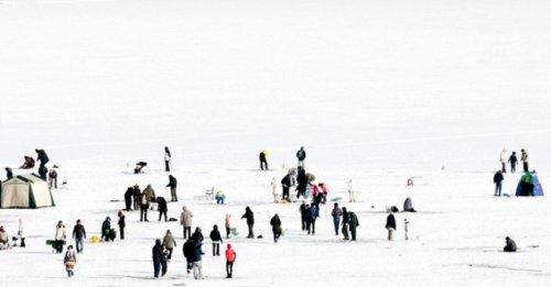 Фестиваль подледного улова в Южной Корее