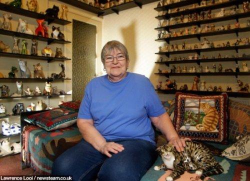 Коллекция из двух тысяч керамических кошек