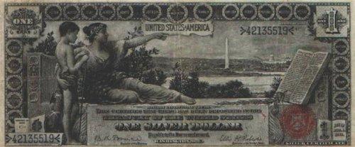 Старые долларовые купюры