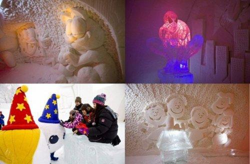 Ледяной отель «Снежная крепость» в Финляндии