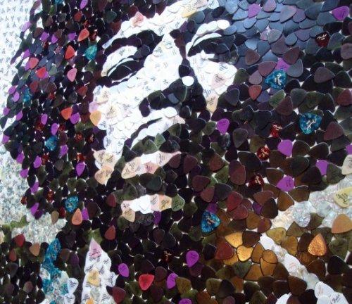 Портрет Джимми Хендрикса из 5 000 медиаторов