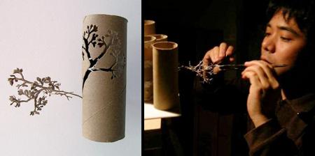 Деревья из туалетной бумаги от Юкен Теруя