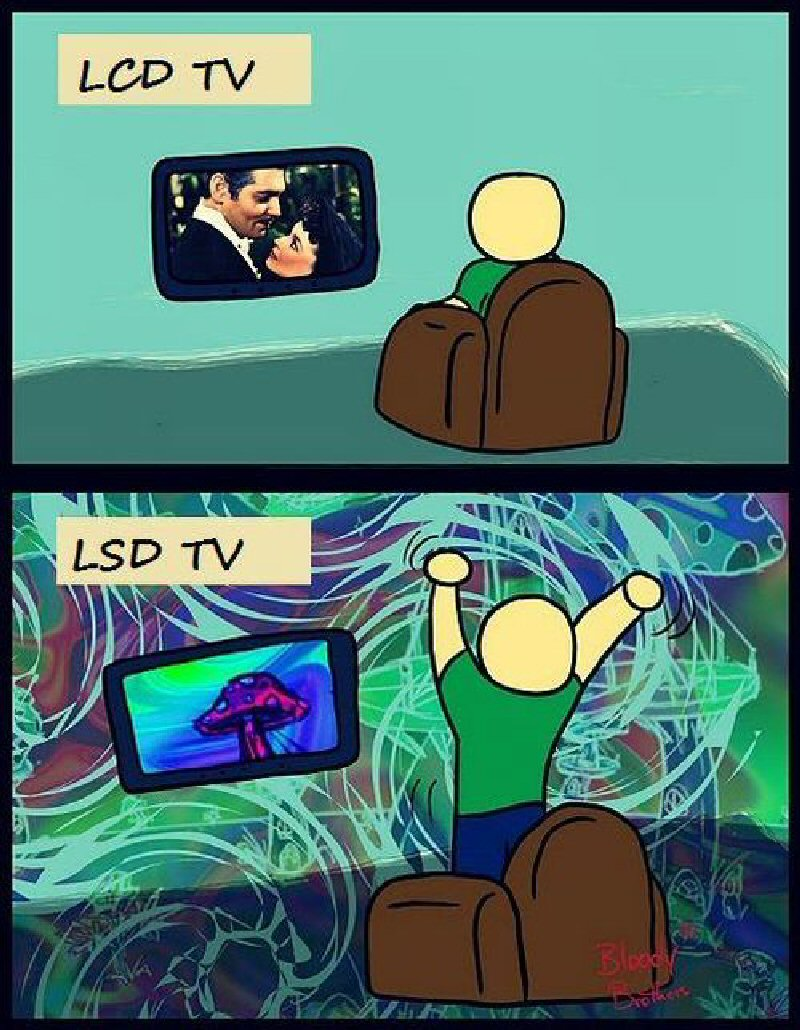 LCD TV против LSD TV Другое.