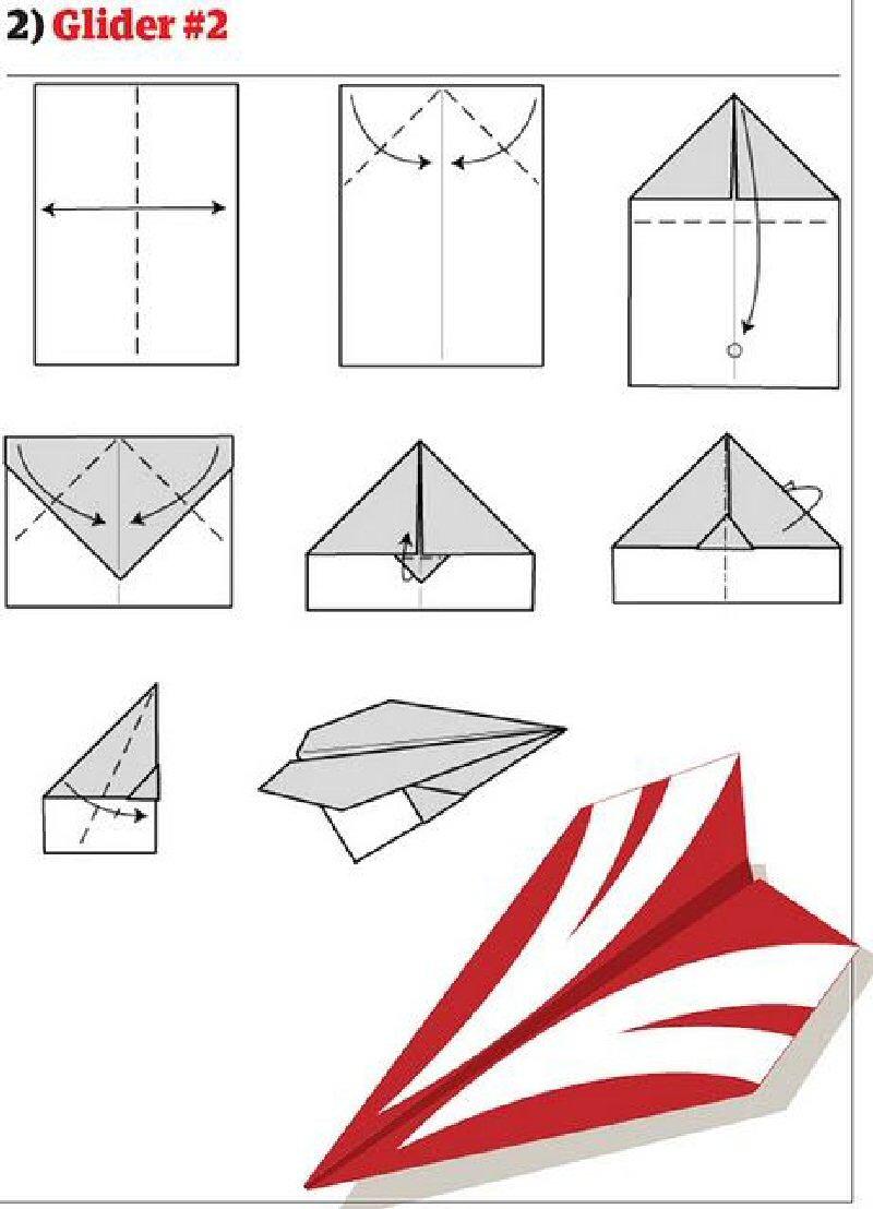 Собрать самолет из бумаги