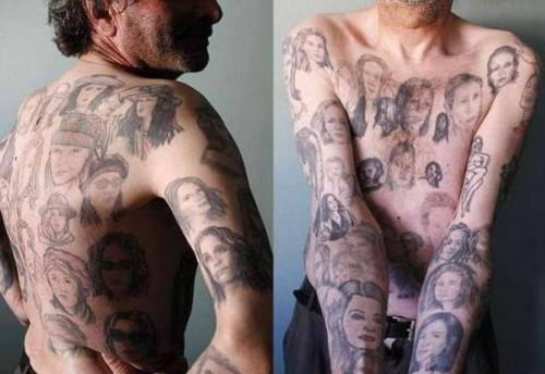 Фанат Джулии Робертс вытатуировал свое тело ее портретами