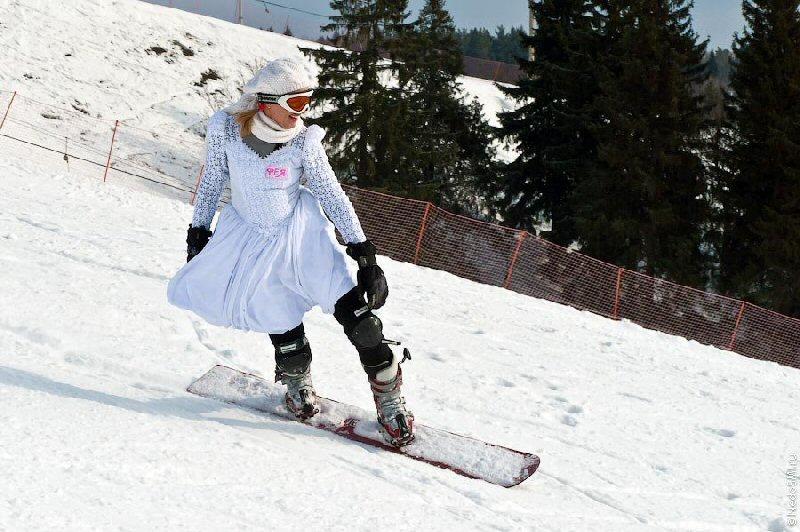 снегурочка на сноуборде фото
