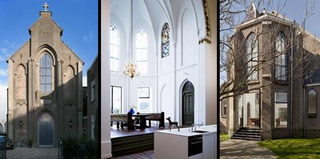Современный дом в здании церкви