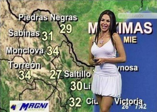 фото голых ведущих погоды