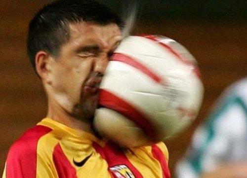Неприятная встреча с мячом