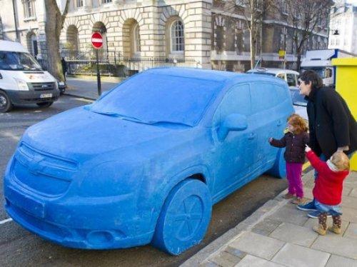 Пластилиновый Chevrolet в натуральную величину