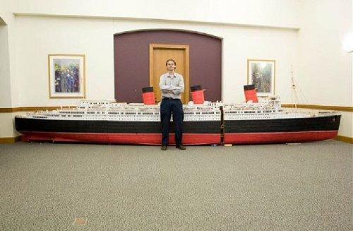 Корабль из зубочисток