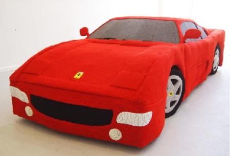 Ferrari из пряжи