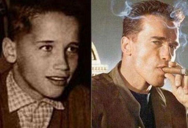 Знаменитости в молодости и сейчас