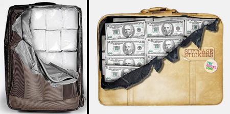 Прикольные наклейки на чемоданы