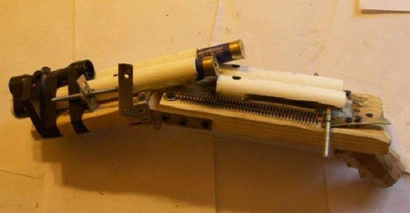 Как сделать винтовку в домашних условиях огнестрельную