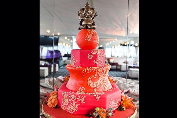 Эксклюзивный торт с английской техникой фото