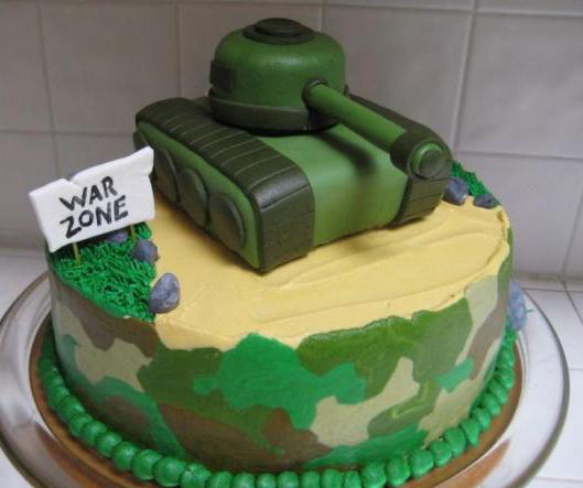 торт на военную тему фото
